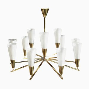 Italian Brass Ceiling Lamp, 1960s
