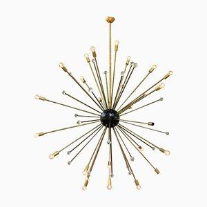 Italian Murano Glass Starburst Sputnik Chandelier, 1950s