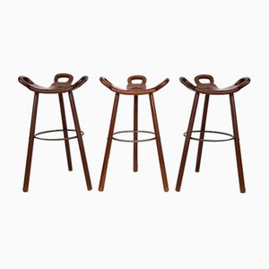 Brutalist Spanish Bar Stools, 1970s, Set of 3
