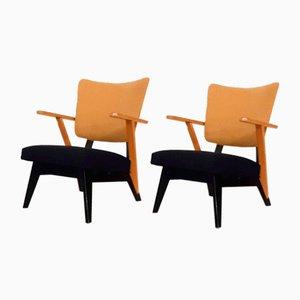 Dutch Lounge Chairs, 1950s, Set of 2