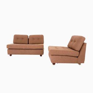 Niederländischer Zwei-Sitzer Sessel & Sofa Set von Geoffrey Harcourt für Artifort, 1960er