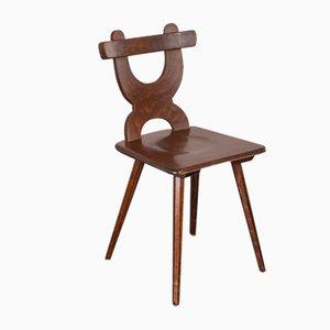 Handgefertigte französische Esszimmerstühle aus Eiche, 1950er, 12er Set