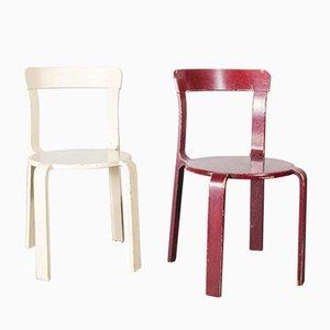 Beistellstühle von Bruno Rey für Dietiker, 1960er, 2er Set