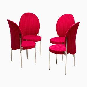 Esszimmerstühle mit Hoher Rückenlehne von Verner Panton für Thonet, 1960er, 4er Set