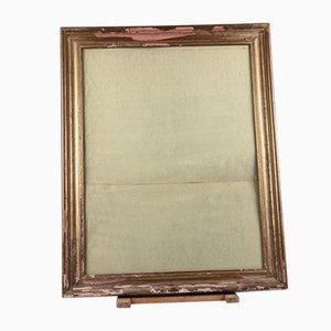 Mid-Century Golden Frame Mirror