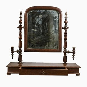 Antique Louis Philippe Walnut Mirror
