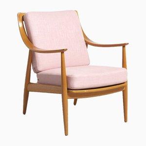 Pinker Modell FD Easy Chair von Peter Hvidt & Orla Mølgaard-Nielsen für France and Daverkosen, 1950er