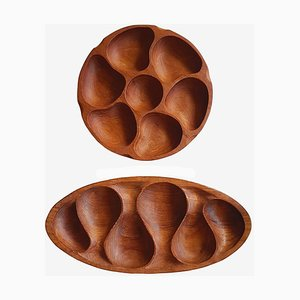 Mid-Century Teak Trays by Laur Jensen for Odense, Set of 2