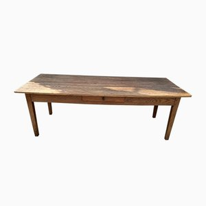 Solid Oak Dining Table, 1930s