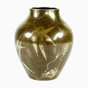 Art Deco Brass Vase by Paul Haulstein for WMF Ikora, 1930s
