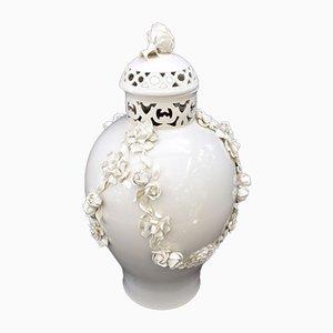 Vase Potpourri Vintage en Porcelaine de Nymphenburg, Allemagne