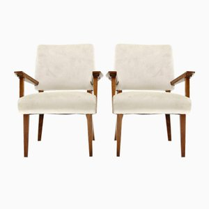 Italian Wingback Armchairs, 1930s, Set of 2