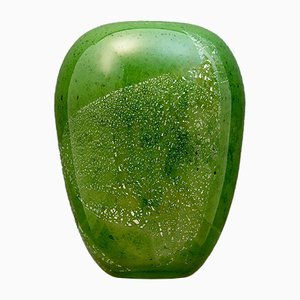 Green Glass Vase from Carola Londeix, 1990s