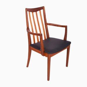 Chaises de Salon Mid-Century en Teck et Cuir par Leslie Dandy pour G-Plan, 1960s, Set de 6