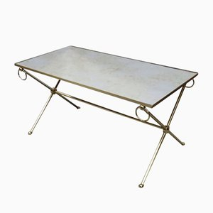 Mid-Century French Brass Coffee Table, 1970s