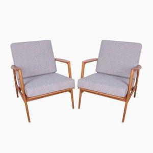 Modell 300-139 Armlehnstühle von Swarzedzka Furniture Factory, 1960er, 2er Set