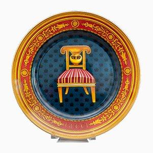 Assiettes Le Poltrone Vintage en Porcelaine par Gucci