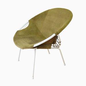 Mid-Century Wildleder Sessel von Lusch Erzeugnis, 1960er