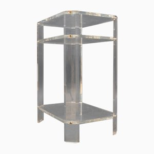 Vintage Console Table with Plexiglass Shelves from David Lange