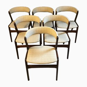 Danish Rosewood Dining Chairs, 1950s, Set of 6