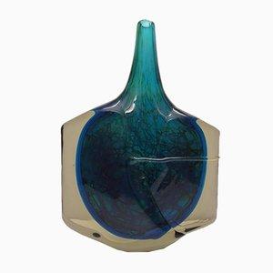 Große Fisch Vase von Michael Harris für Mdina, 1970er