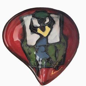 Italienische Servierschüsseln und Wandteller, 1950er