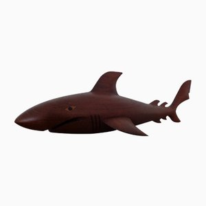 Danish Solid Teak Shark Sculpture, 1960s