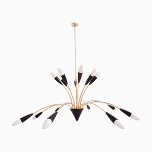 16-Arm Chandelier from BAG Turgi, 1950s