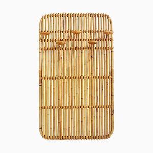 Italian Bamboo Model 631 Wall Coat Rack by Olaf von Bohr, 1961