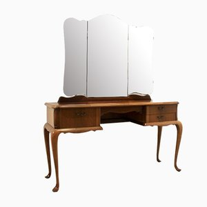 Dutch Mahogany Dressing Table with Mirror, 1950s