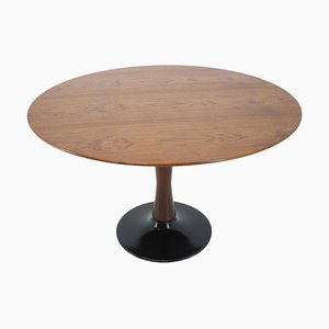Czechoslovak Round Teak Dining Table from Drevotvar, 1970s