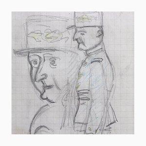 Dessin au Crayon Mon Colonel par Auguste Chabaud, 1930s