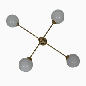 Lámpara de araña Mid-Century, años 60
