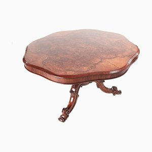 Burl Walnut Shaped Centre Table, 1850s