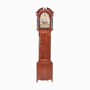 Orologio a pendolo antico in ottone con 8 faccia in quercia