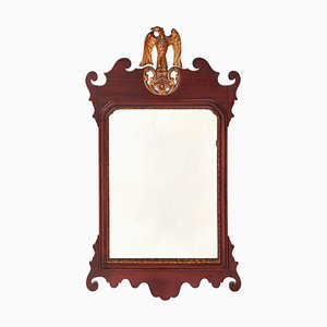 Large Antique Edwardian Mahogany Wall Mirror