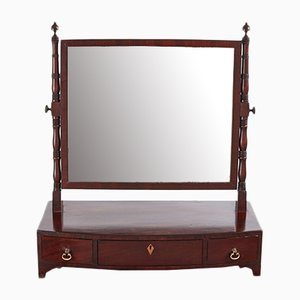 Antique Georgian Mahogany Ladies Dressing Table Mirror