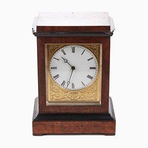 Orologio da tavolo Burr in noce ebanizzato di Baldwin di Loughborough