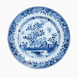 Assiette 18ème Siècle Bleue et Blanche, Chine