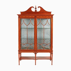 Antique Inlaid Satinwood Display Cabinet