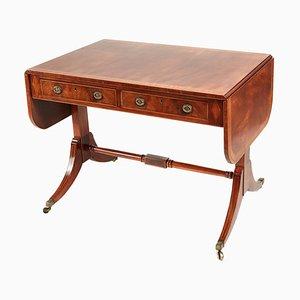 Table à Abattant Édouardienne Antique en Acajou