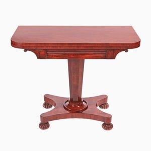 Table pour Jeux de Cartes Victorienne Antique en Acajou