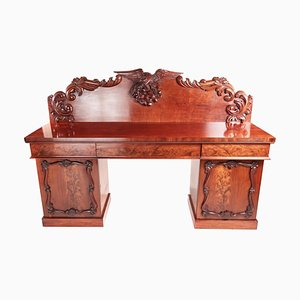 Antique Quality Victorian Carved Mahogany Sideboard, 1860s