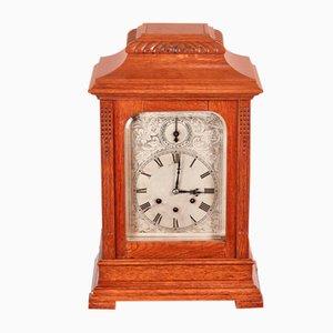 Large Antique Oak 8 Day Bracket Clock, 1880s