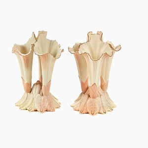 Blush Ivory Spill Vases from Locke & Co / Edward Locke, 1920s, Set of 2