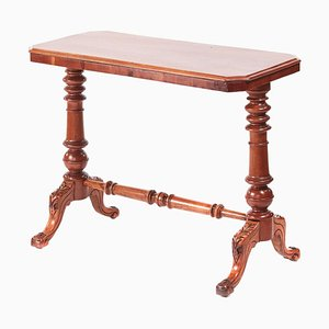 19th Century Victorian Antique Mahogany Side Table