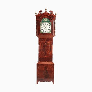 Antique Mahogany 8 Day Painted Face Longcase Clock