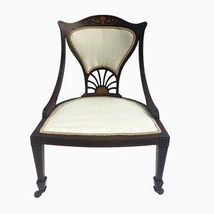 Chaise Ladies Antique en Acajou