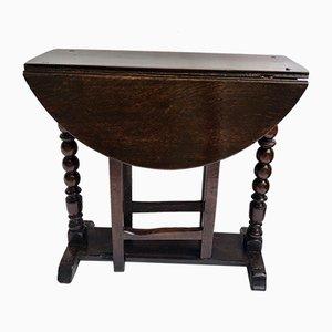 Kleiner Antiker Gateleg Tisch aus Eiche, 1680er