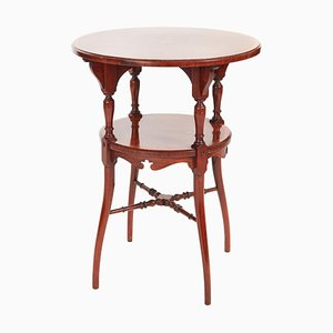 Antique Inlaid Rosewood Two-Tier Occasional Table